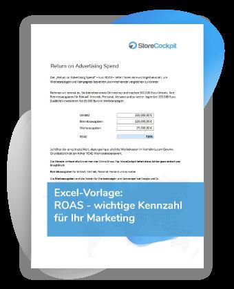 Excel-Vorlage Return on Advertising Spend ROAS