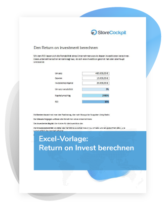 Excel-Vorlage Return on Invest ROI